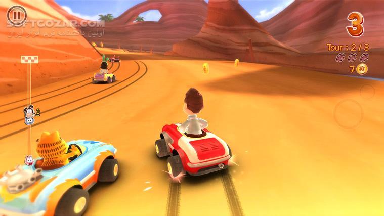 Garfield Kart تصاویر نرم افزار  - سافت گذر