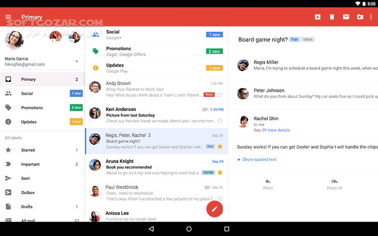 Gmail 2019 11 21 283644823 for Android 2 2 تصاویر نرم افزار  - سافت گذر