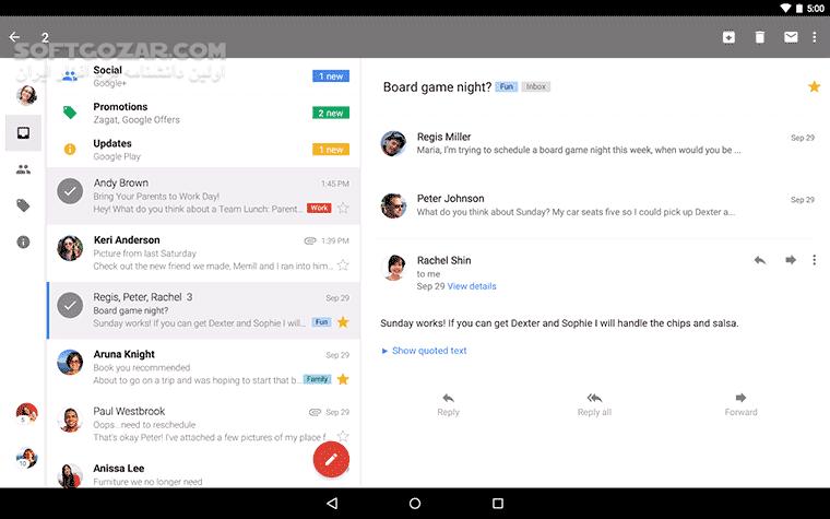 Gmail 2019 09 01 268168002 for Android 2 2 تصاویر نرم افزار  - سافت گذر