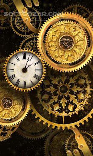 Gold clock world time HD 1 08 for Android تصاویر نرم افزار  - سافت گذر