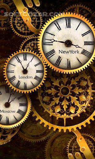 Gold clock world time HD 1 08 for Android تصاویر نرم افزار  - سافت گذر