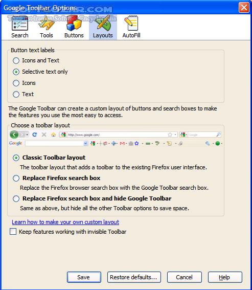 Google Toolbar for Firefox 7 1 2011 0512b تصاویر نرم افزار  - سافت گذر