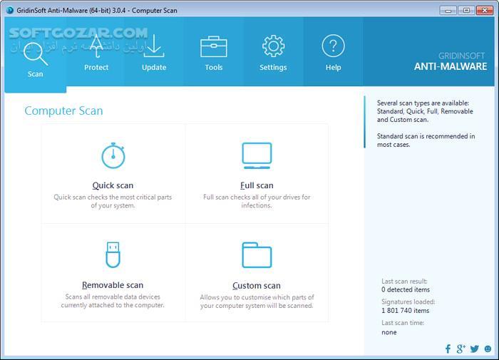 Gridinsoft Anti Malware 4 1 2 294 تصاویر نرم افزار  - سافت گذر