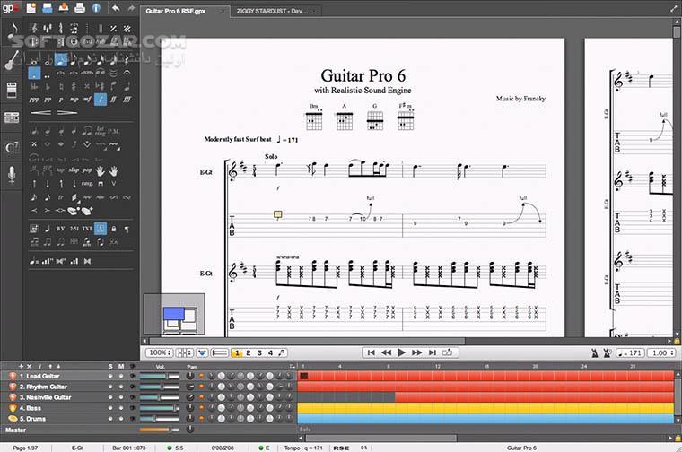 Guitar Pro 7 5 2 Build 1620 Soundbanks Tabs Mac تصاویر نرم افزار  - سافت گذر