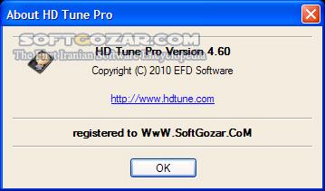 HD Tune Pro 5 70 تصاویر نرم افزار  - سافت گذر