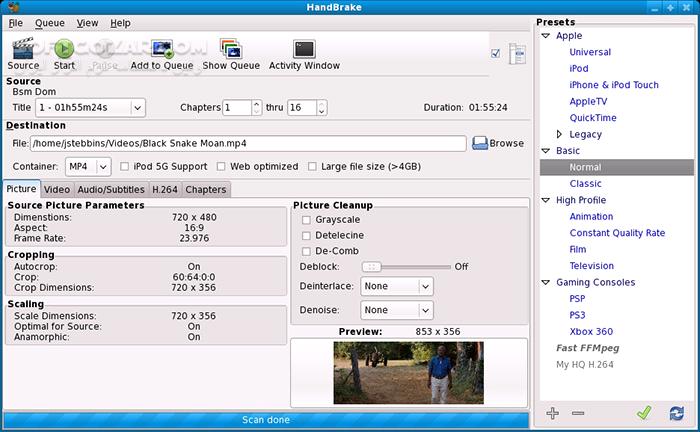 HandBrake 1 2 1 Final Portable macOS تصاویر نرم افزار  - سافت گذر