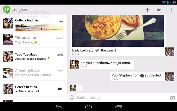 Hangouts 34 0 278965294 for Android 4 1 تصاویر نرم افزار  - سافت گذر
