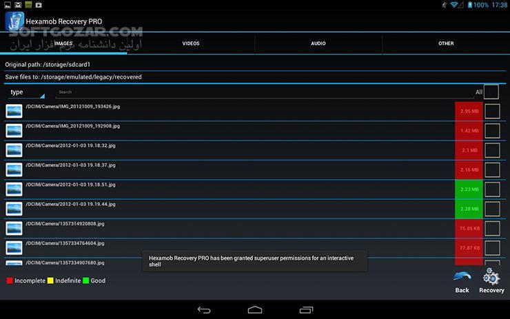 Hexamob Recovery PRO 5 1 for Anroid تصاویر نرم افزار  - سافت گذر