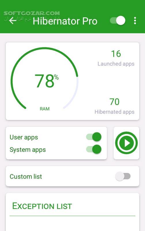 Hibernator Pro 2 9 5 for Android 4 4 تصاویر نرم افزار  - سافت گذر