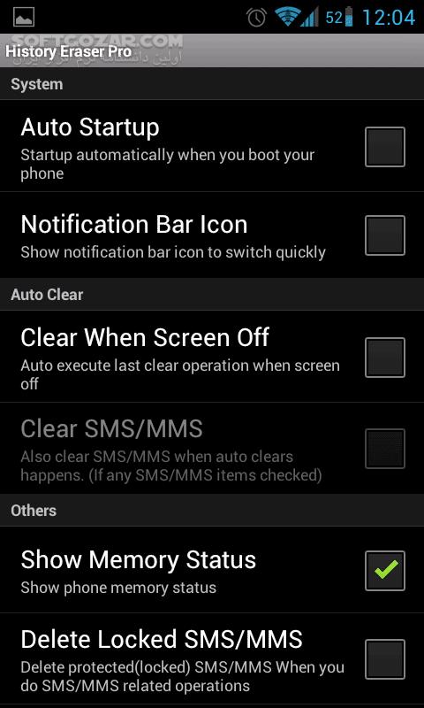 History Eraser Pro 6 2 0 for Android تصاویر نرم افزار  - سافت گذر