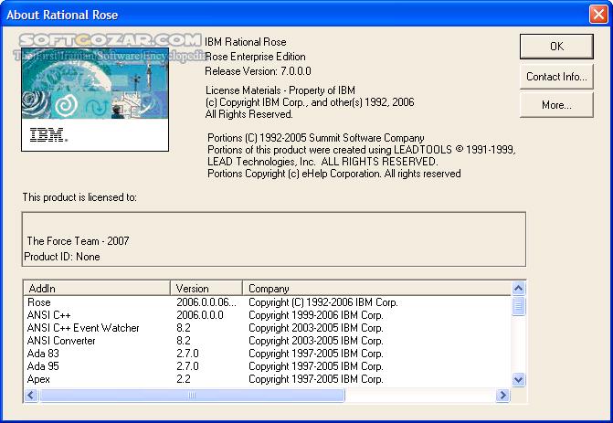 IBM Rational Rose Enterprise 8 5 0506 تصاویر نرم افزار  - سافت گذر