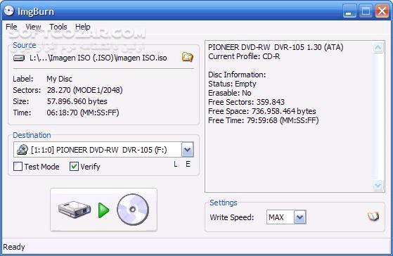 ImgBurn 2 5 8 0 تصاویر نرم افزار  - سافت گذر