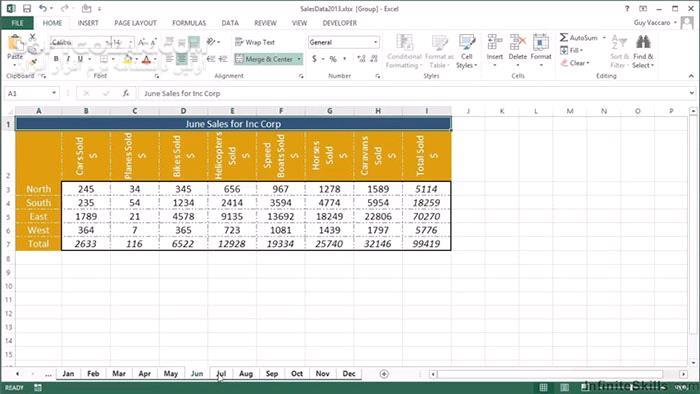 InfiniteSkills Microsoft Excel Shortcut Guide Training Video تصاویر نرم افزار  - سافت گذر