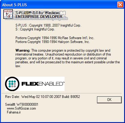 Insightful S Plus 8 0 تصاویر نرم افزار  - سافت گذر
