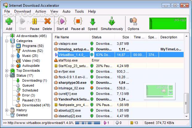 Internet Download Accelerator Pro 6 19 5 1651 تصاویر نرم افزار  - سافت گذر