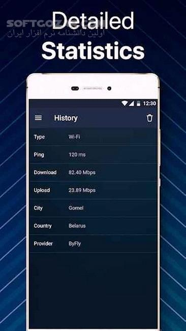 Internet Speed Test Original wifi 4g meter 3 6 for Android 4 1 تصاویر نرم افزار  - سافت گذر