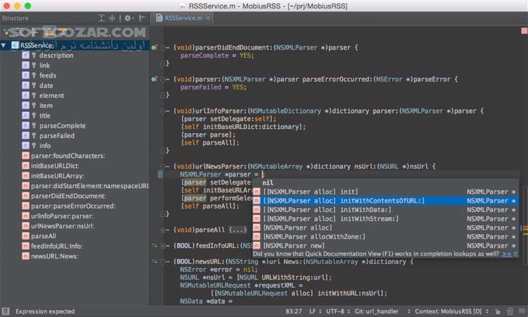 JetBrains AppCode 2019 1 1 macOS تصاویر نرم افزار  - سافت گذر