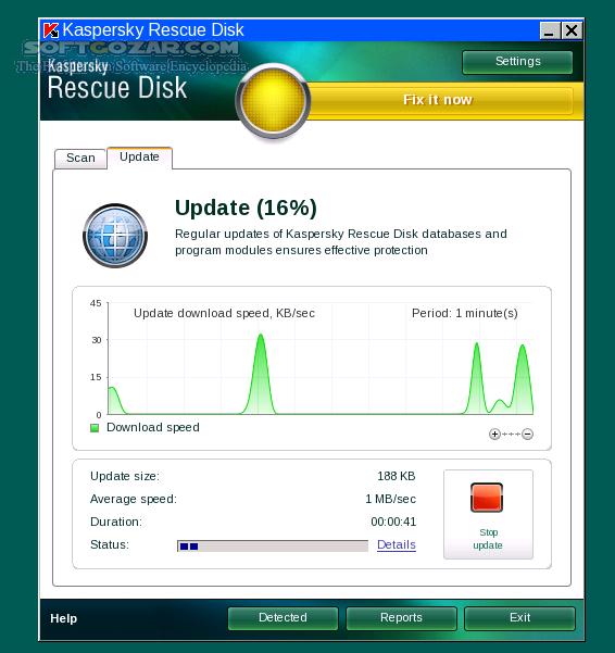 Kaspersky Rescue Disk 18 0 11 0 Build 2019 08 09 (ISO) USB تصاویر نرم افزار  - سافت گذر