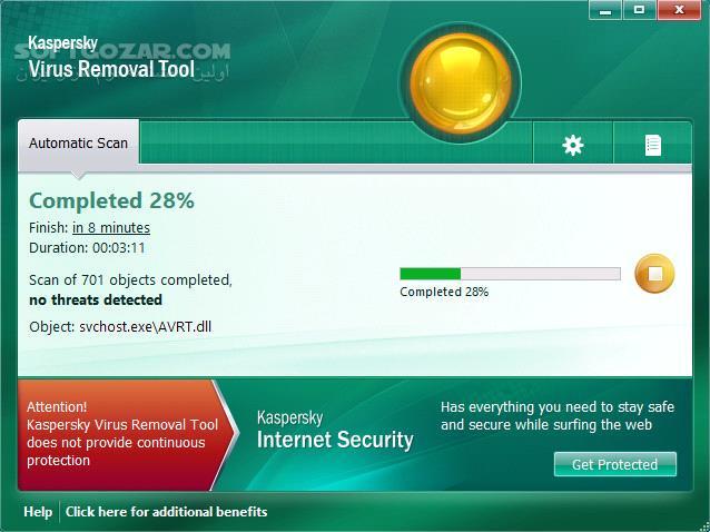 Kaspersky Virus Removal Tool 15 0 22 0 Build 2019 04 20 تصاویر نرم افزار  - سافت گذر