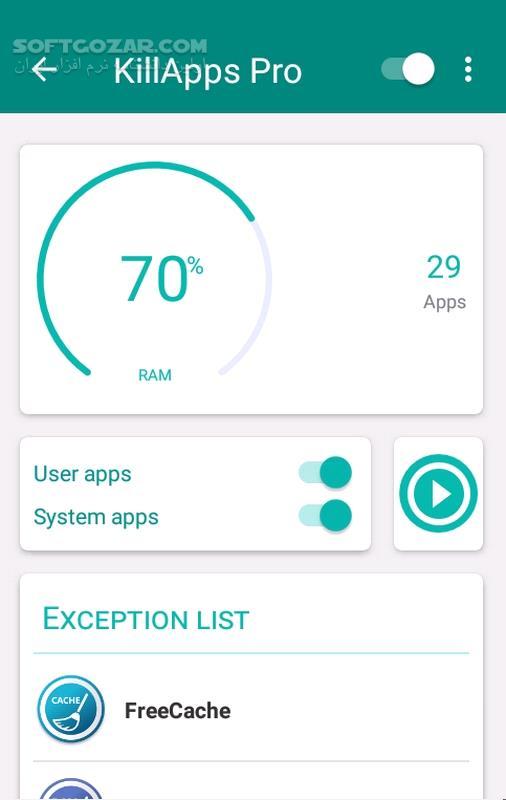 KillApps Pro 1 10 7 for Android 4 4 تصاویر نرم افزار  - سافت گذر