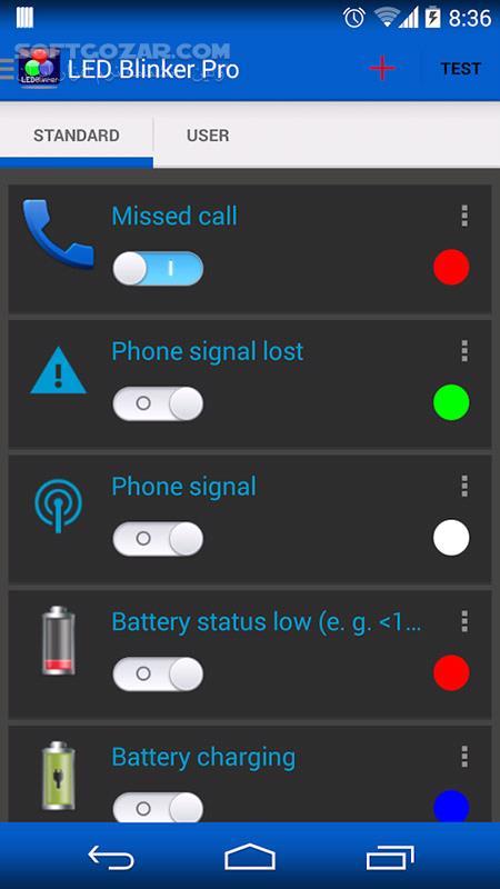 LED Blinker Notifications 6 6 6 Pro for Android 2 2 تصاویر نرم افزار  - سافت گذر