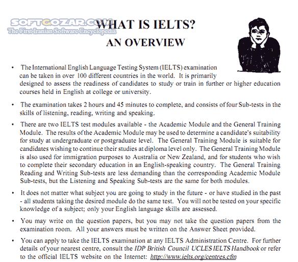 Learning IELTS تصاویر نرم افزار  - سافت گذر