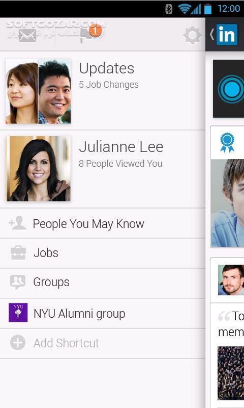 LinkedIn 6 0 41 for Android 4 0 تصاویر نرم افزار  - سافت گذر
