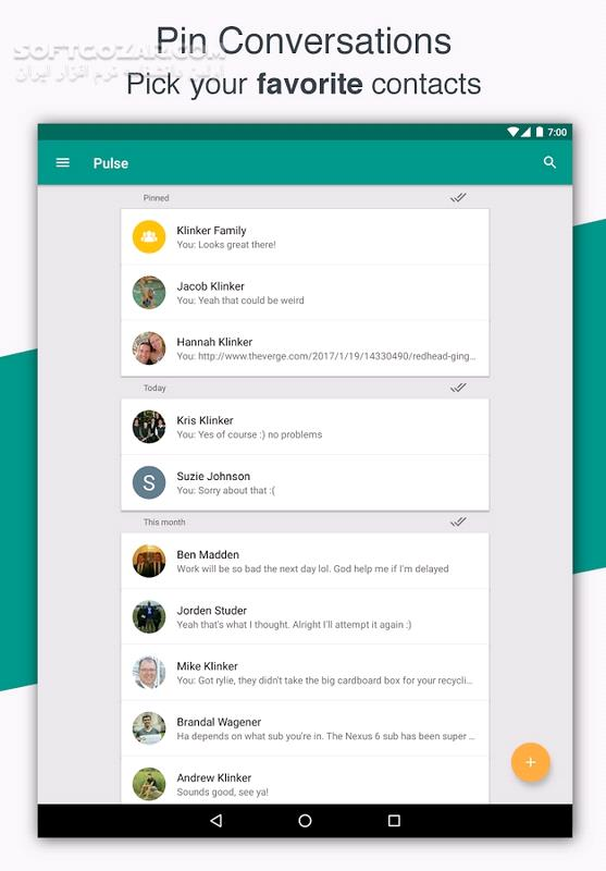 Pulse SMS Full 4 1 5 2260 for Android 5 03 2 1 2166 تصاویر نرم افزار  - سافت گذر
