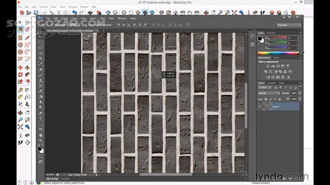 Lynda – SketchUp for Architecture Fundamentals تصاویر نرم افزار  - سافت گذر