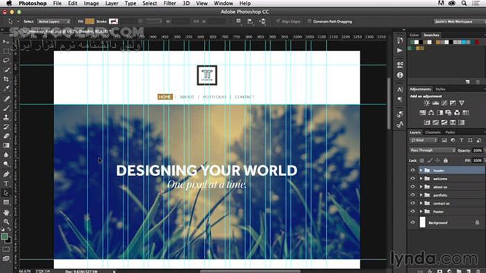 Lynda Photoshop CC for Web Design تصاویر نرم افزار  - سافت گذر