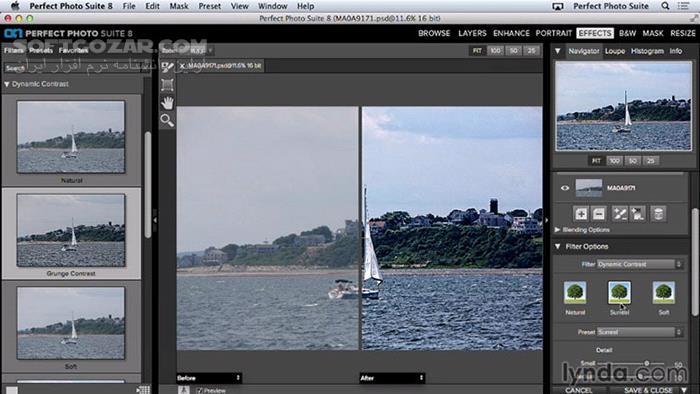 Lynda Up and Running with Perfect Photo Suite 8 تصاویر نرم افزار  - سافت گذر