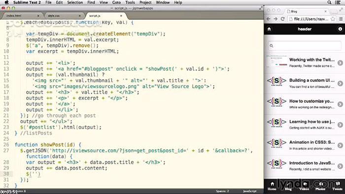 Lynda jQuery Mobile Web Applications 2014 تصاویر نرم افزار  - سافت گذر