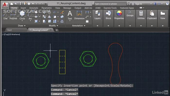 Lynda AutoCAD 2017 Essential Training تصاویر نرم افزار  - سافت گذر