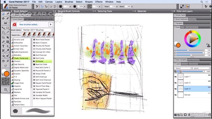 Lynda Corel Painter 2017 Essential Training تصاویر نرم افزار  - سافت گذر