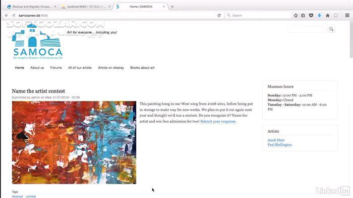 Lynda Drupal 8 Essentials 1 Getting Started تصاویر نرم افزار  - سافت گذر