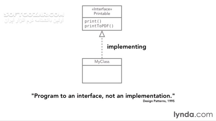Lynda Foundations of Programming Object Oriented Design تصاویر نرم افزار  - سافت گذر