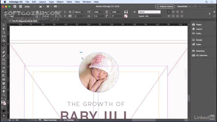 Lynda InDesign CC 2018 Essential Training تصاویر نرم افزار  - سافت گذر