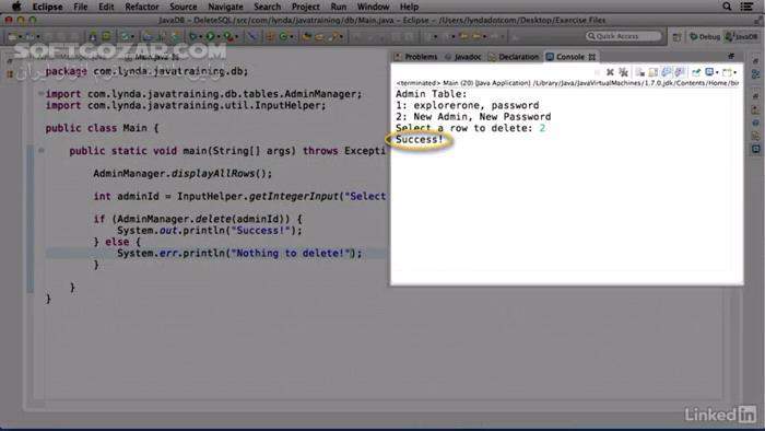 Lynda Java Database Integration with JDBC تصاویر نرم افزار  - سافت گذر