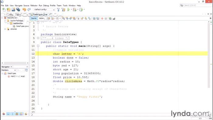Lynda Java Essential Training for Students تصاویر نرم افزار  - سافت گذر