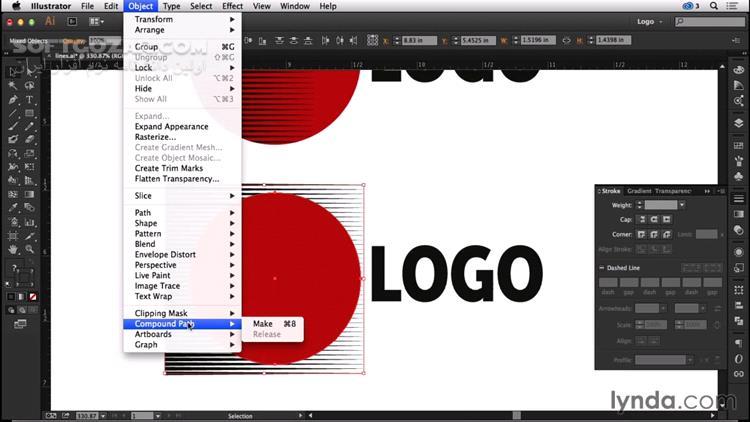 Lynda Logo Design Techniques (2016) تصاویر نرم افزار  - سافت گذر