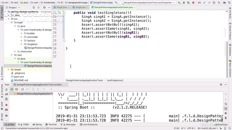 Lynda Spring Design Patterns تصاویر نرم افزار  - سافت گذر