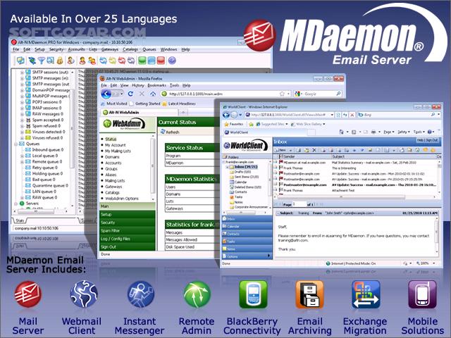 MDaemon Email Server 18 0 2 17 5 2 Messaging Server 17 0 2 16 5 2 تصاویر نرم افزار  - سافت گذر