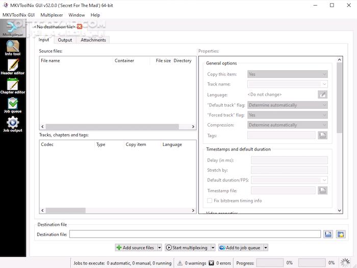 MKVToolNix 35 0 0 Win Mac Linux Portable تصاویر نرم افزار  - سافت گذر