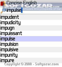 MSDict Concise Oxford English Dictionary and Thesaurus تصاویر نرم افزار  - سافت گذر