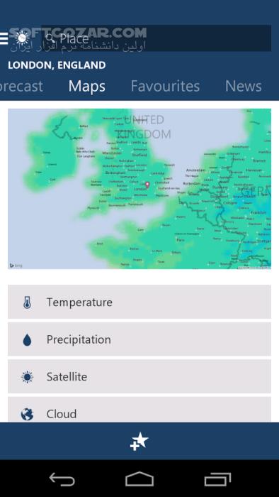 MSN Weather 1 2 0 for Android 4 1 تصاویر نرم افزار  - سافت گذر