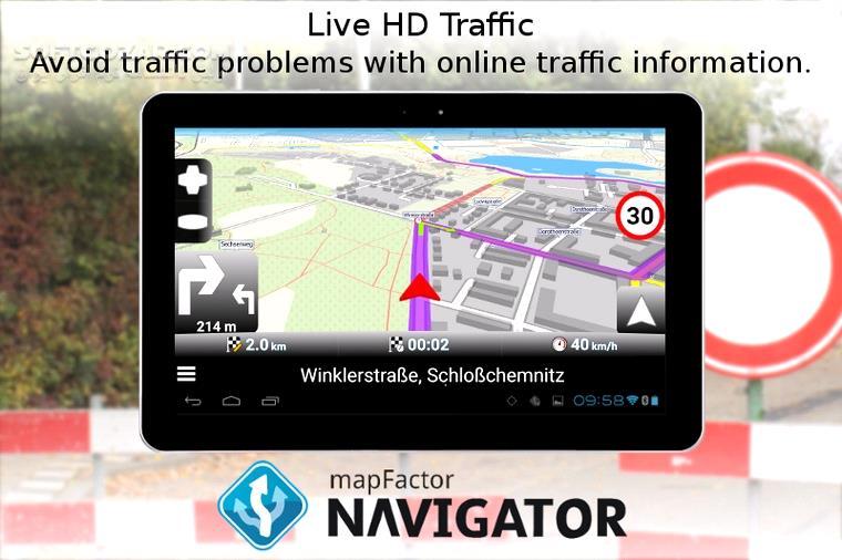 MapFactor GPS Navigation Maps 6 0 228 for Android 2 3 تصاویر نرم افزار  - سافت گذر