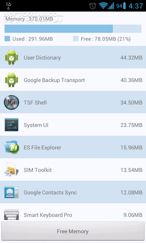Memory Cleaner 1 1 5 for Android 2 0