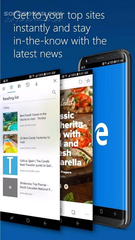 Microsoft Edge Preview 42 0 22 4048 for Android 4 4 تصاویر نرم افزار  - سافت گذر