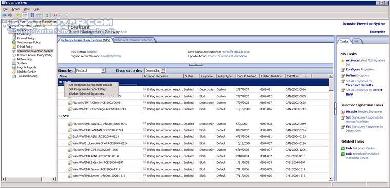 Microsoft Forefront Threat Management Gateway 2010 Enterprise x64 SP1 Update 1 SP2 Update 1 تصاویر نرم افزار  - سافت گذر