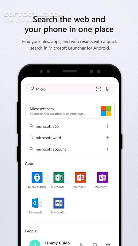 Microsoft Launcher Preview 5 8 0 54026 for Android 4 0 3 تصاویر نرم افزار  - سافت گذر